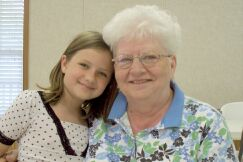 Linda Drennen and her grand daughter Chastity Drennen enjoy spending time at Community Center events.