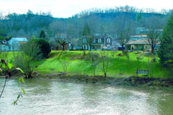 Many Sutton residents enjoy riverside homes along the Elk River which flows beside the town. The river provides fishing, boating and swimming recreation.