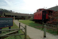 Heritage Park opened to the public in 1989. It contains a community building, the Baltimore and Ohio (B&O) train depot which is now a museum, Newburn School which was moved from Looneyville, and an 84-foot oil derrick donated by Pennzoil and moved from Wallback.