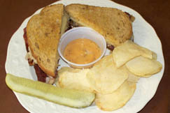 The Reuben Sandwich is a customer favorite at Antique Cafe. It's homemade using Pam Tanner's recipe.