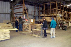 Customers get their wood cut to size at Elswick Home Center's lumber department.