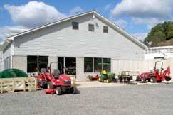 Nettles Equipment, Inc. is located on a hillside right at Interstate 79 Exit 46.