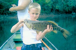 This 4.5 pound, 22-inch Smallmouth Bass was caught on the Elk River by Hunter Tanner.