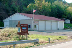 The Servia Volunteer Fire Department, located in Duck, serves a large rural area.