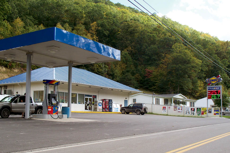The Sunoco Station in Little Birch provides convenience shopping.