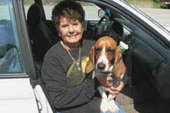 Sandra Kinder moved to Newton from Kanawha County in 1979 and says Roane County is her home. Also home for her Basset Hound Maggie.