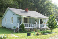 Coal camp-style home in Widen, West Virginia