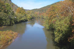 The scenic beauty of the Elk River can be seen from the roadway continuously along the proposed Byway.